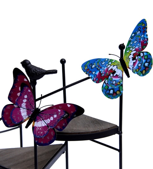Astonishing Multicolour Plastic Shimmer Look Garden Butterfly Showpiece With Magnet Set Of 20 By Aapno Rajasthan Ncnpc Chair Design For Home Ncnpcorg