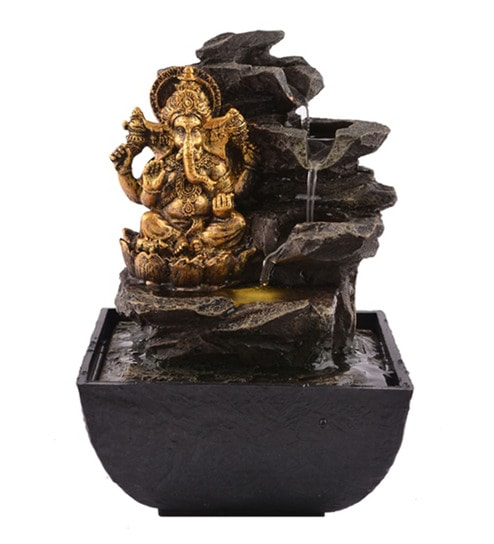 Buy Multicolour Polystone Premium Lord Ganesha Indoor Water Fountain ...