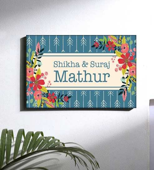 Multicolour Pvc Personalized Name Plate By Nutcase