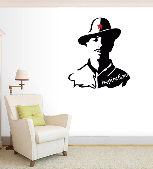 buy multicolour pvc vinyl indian patriot sardar bhagat singh wall
