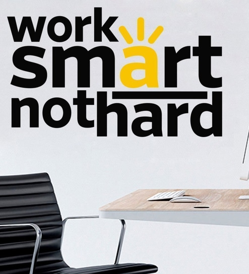 buy multicolour pvc vinyl work smart quote office wall sticker