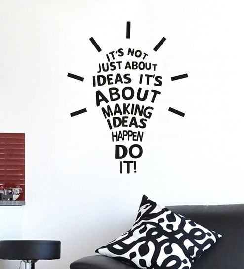 buy multicolour vinyl idea bulb creative wall stickerwall