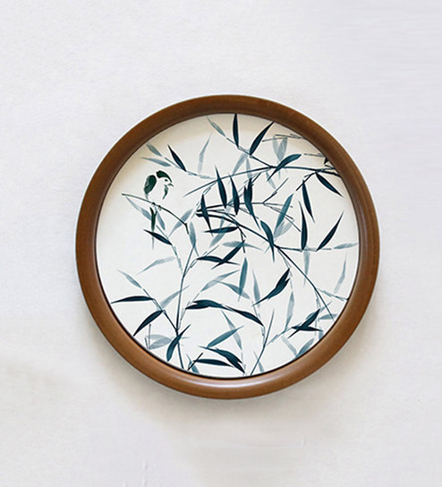 Buy Multicolour Wooden Base 10 Inches In Diameter Bamboo Song Wall