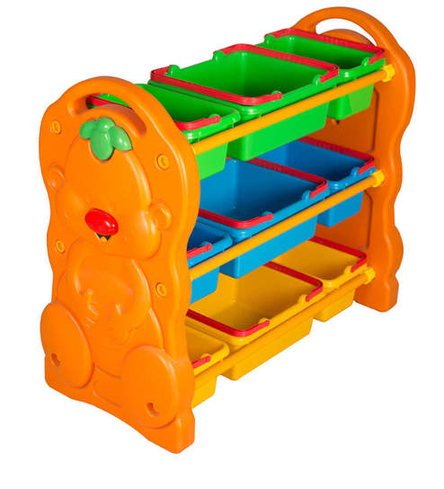 Multi Coloured Toy Storage Bin By Child E