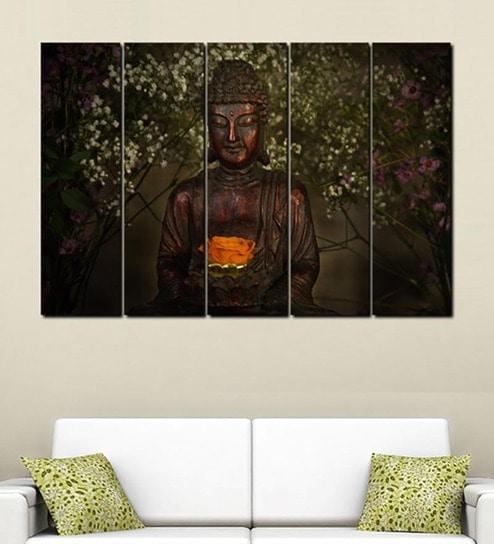 Buy Multiple Frames Printed Buddha Art Panels like Painting - 5 ...