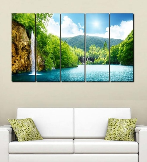 buy multiple frames printed forest fountains art panels like painting 5 frames by 999store. Black Bedroom Furniture Sets. Home Design Ideas
