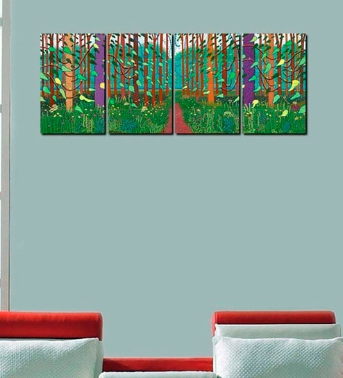 Buy 999store Trees Multicolour Sun Board Easy To Hang Wall Art Set