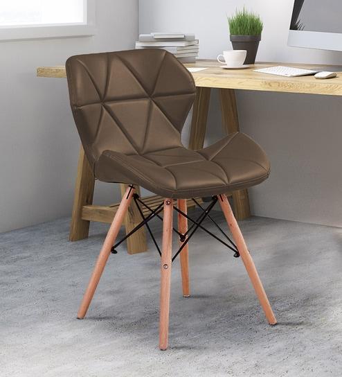 Dark Brown Accent Chairs.Brio Modern Accent Chair In Dark Brown Colour By Workspace Interio
