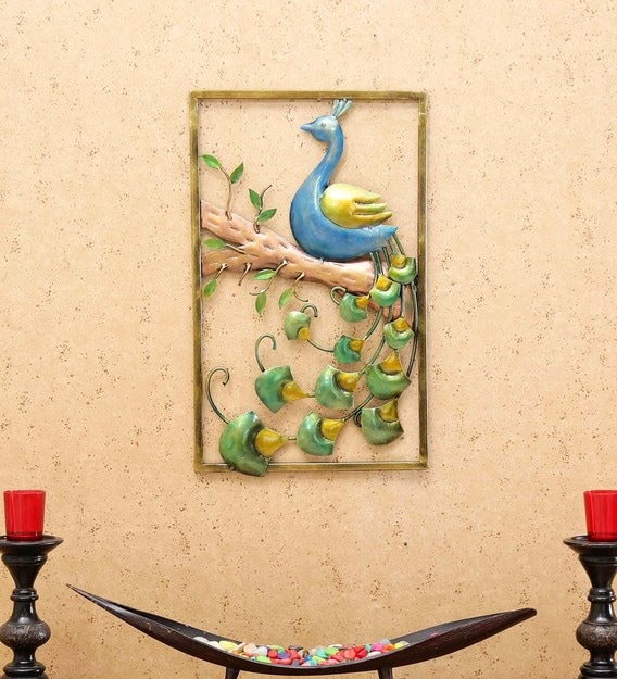 Buy Multicolour Metal Decorative Wall Art By Craftpreneurs India Online Wildlife Metal Art Metal Wall Art Home Decor Pepperfry Product