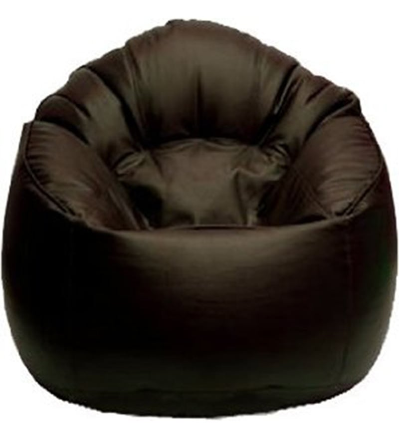 Muddha XXXL Bean Bag With Beans In Brown Colour By Sattva Gallery