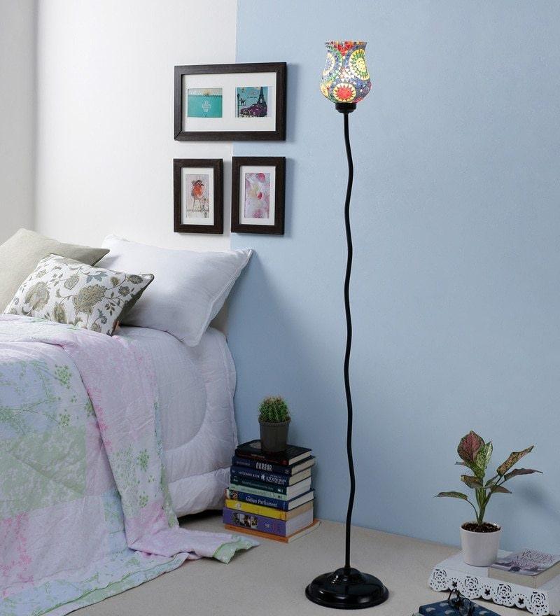 Buy Multicolour Glass Floor Lamp By New Era Online