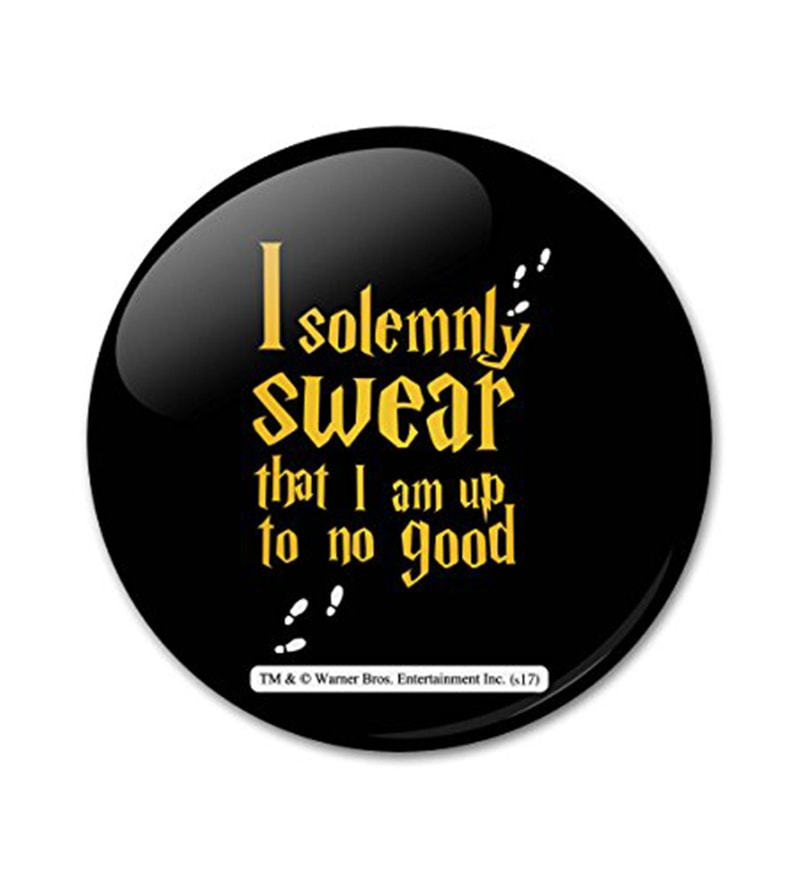 Multicolour Aluminium Official Harry Potter I Solemnly Swear Yellow Fridge Magnet by MC SID RAZZ