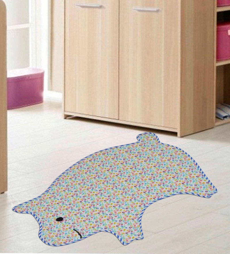 Multicolour Cotton 26 x 24 Inch Pig Shaped Attractive Mat by Creative Textiles