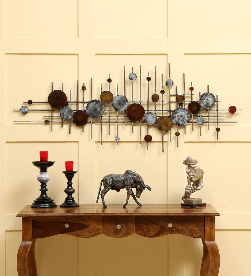 Buy Multicolour Iron Wall Decor by Vedas Online - Metal Wall Art ...