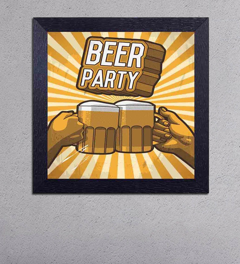 Multicolour Matt Paper Beer Party Cheers Poster by Decor Design