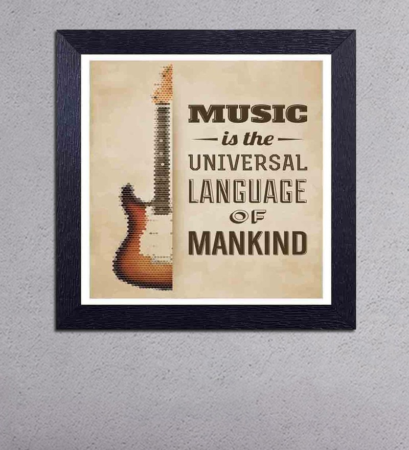Multicolour Matt Paper Music is a Universal Language of Mankind Poster by Decor Design