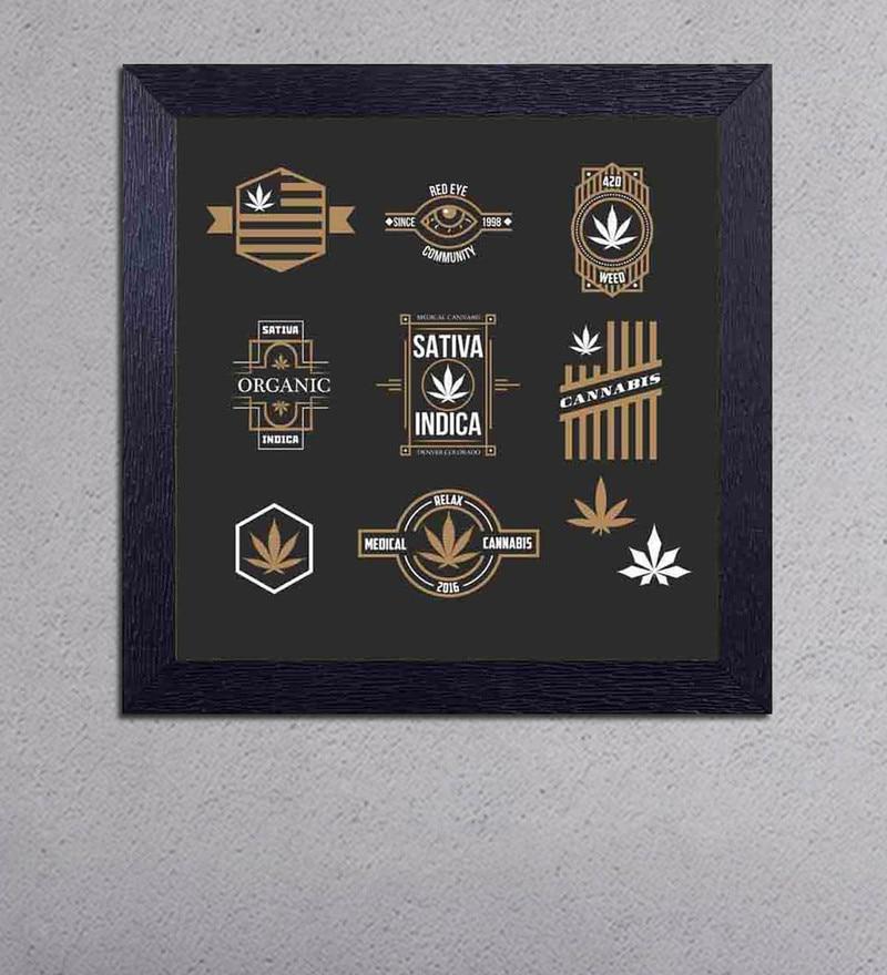 Multicolour Matt Paper Sativa Indica , Cannabis Poster by Decor Design