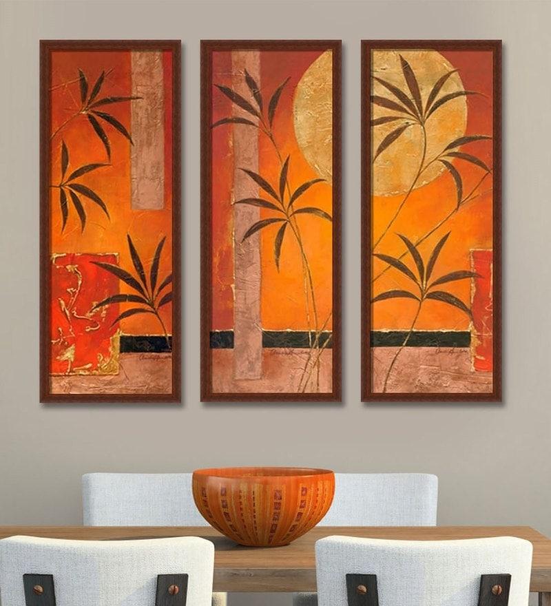 Buy Multicolour Mdf & Canvas 29.5 X 11.5 Inch