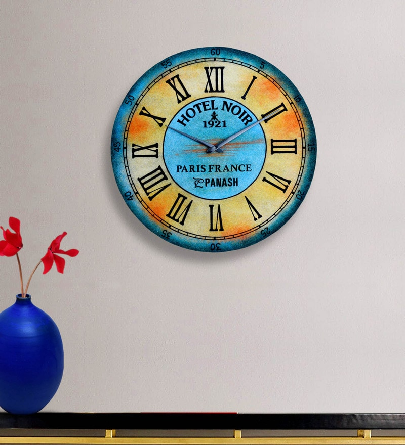 Multicolour MDF Sand Art 18 Inch Clock by Panash Art
