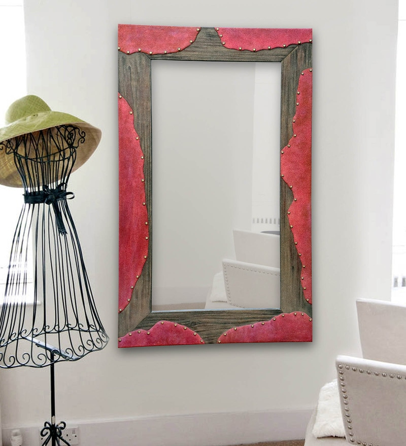 Multicolour MDF Sand Art Mirror by Panash Art