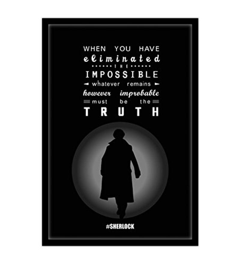 Multicolour MDF Sherlock Truth Poster by MC SID RAZZ