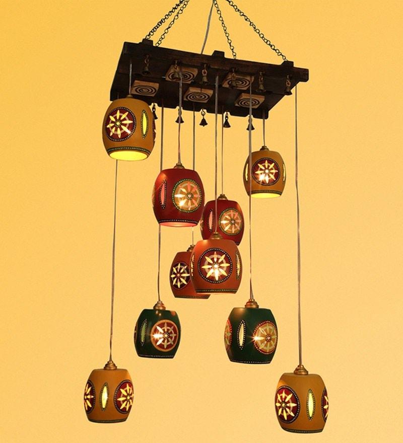 Multicolour Metal Chandelier by ExclusiveLane