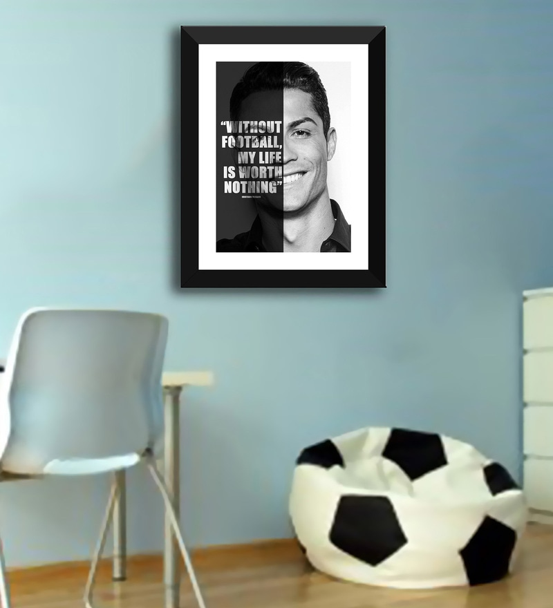Multicolour Paper Motivational Quote without Football My Life is Nothing Cristiano Ronaldo Soccer Superstars Motivational by Tallenge