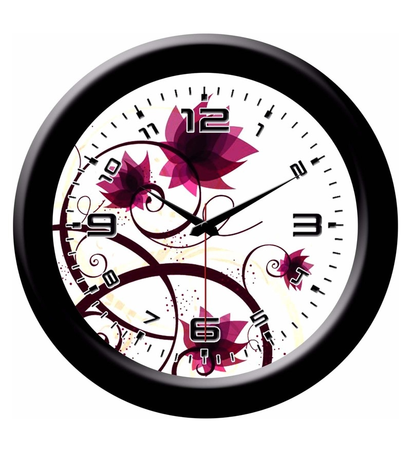 Multicolour Plastic 8 x 2 x 8 Inch Designer Wall Clock by Yes Celebration