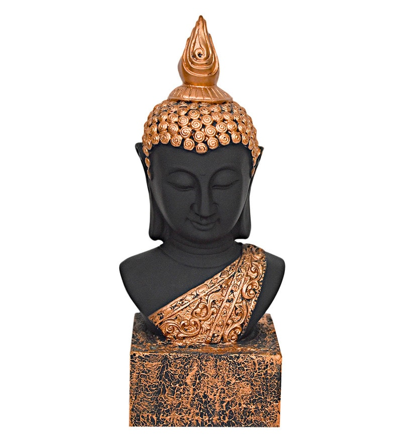 Multicolour Polyresin Meditating Buddhan Fixed Base Mounted Idol by Gallery99