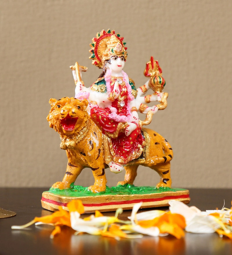Buy Multicolour Resin Durga Maa Idol By Handicrafts Paradise Online Other Dieties Religious Idols Home Decor Pepperfry Product
