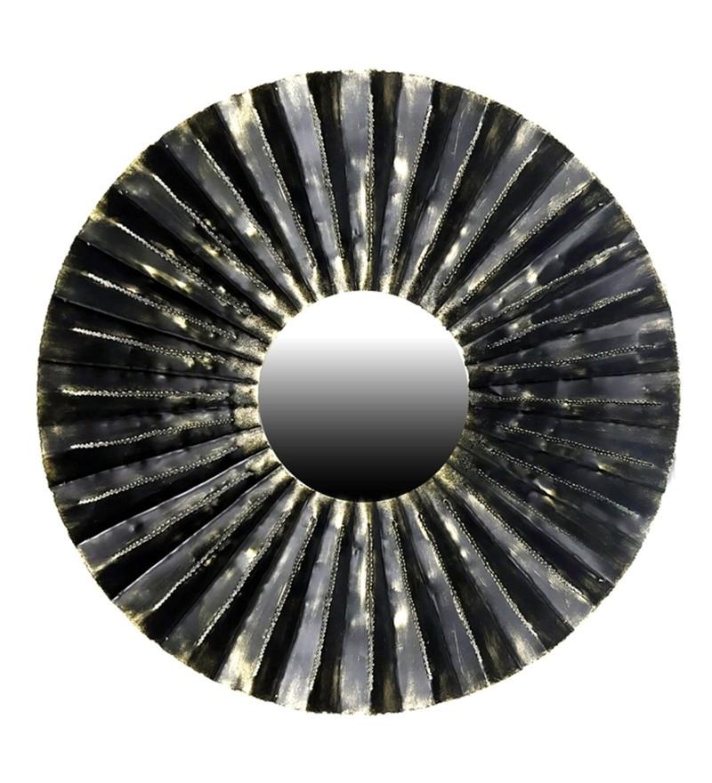 Multicolour W-Arum Tin Iron Mirror by Vedas