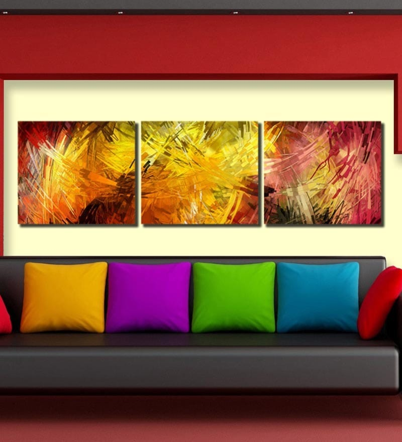 Buy Multiple Frames abstract Art Panels like Painting - 3 Frames ...
