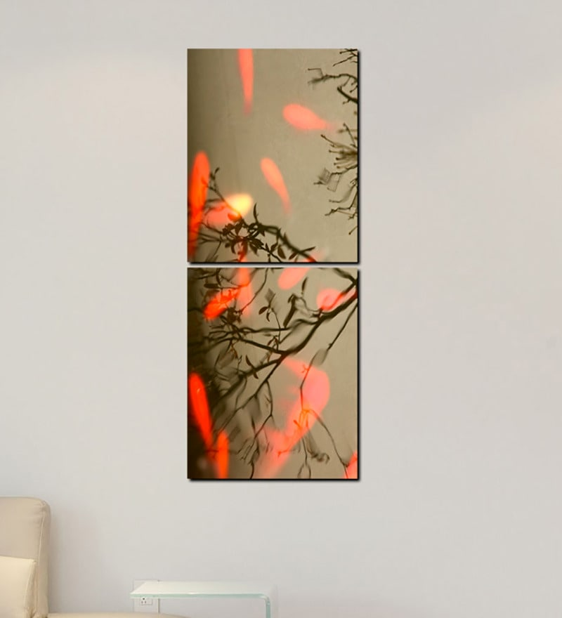 Multiple Frames Tree Leaves Art Panels like Painting - 2 Frames by 999Store