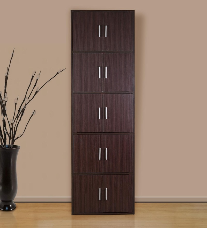 Buy Multipurpose Storage Cabinet in Wenge Finish by DHEP Furniture ...