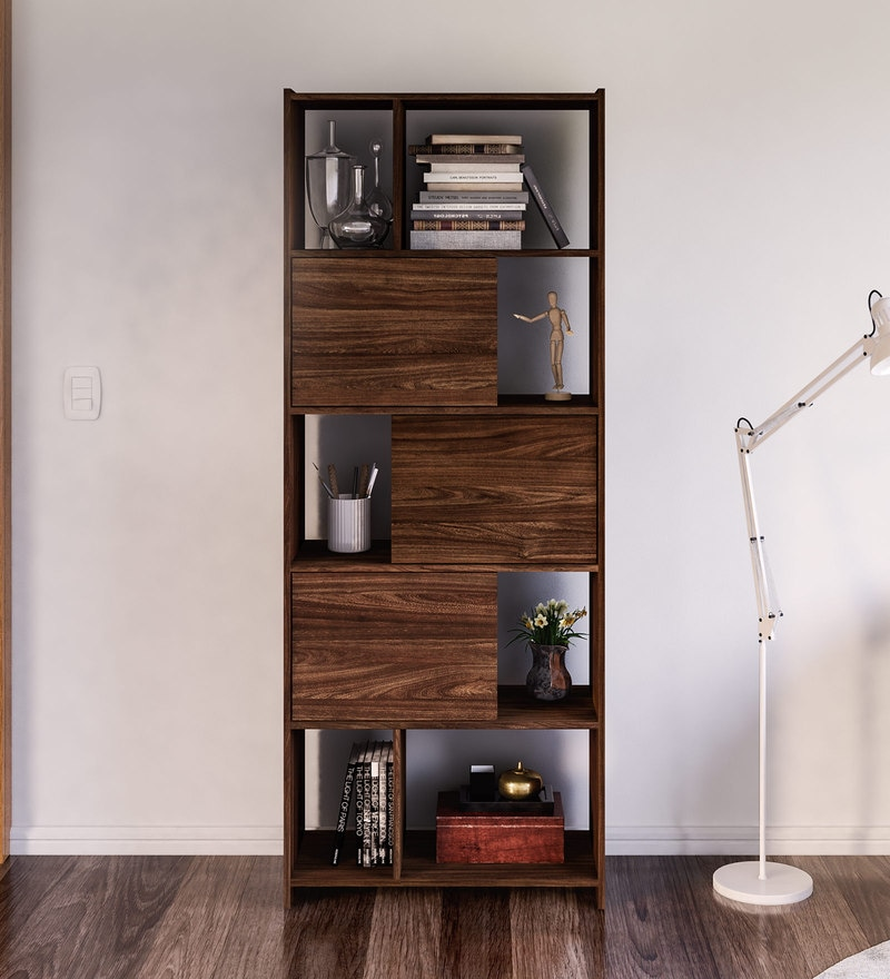 Murakami Bookcase in Walnut Brown Finish by Mintwud