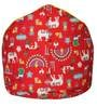 Muddha XL Bean Bag with Beans in Red Colour by Sattva