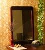 Brown Sheesham Wood Mirror by Mudra