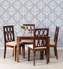 Wisconsin Four Seater Dining Set in Provincial Teak Finish by Woodsworth