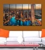 Multiple Frames city tower art panels like Painting - 6 Frames by 999Store