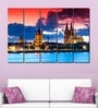 Multiple Frames Printed City Towers Art Panels like Painting - 5 Frames