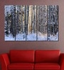 Multiple Frames Printed Forest Ice Trees Art Panels like Painting - 5 Frames