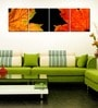 Multiple Frames yellow leaves panels like Painting - 4 Frames by 999Store