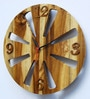 Divine Decor Brown Teak Wood 11 x 0.3 x 11 Inch Wall Clock