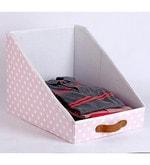 Cotton & Mdf Baby Pink Clothing Storage Bin
