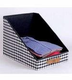 Cotton & Mdf 10 L Black Clothing Storage Bin
