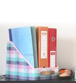 My Gift Booth Cotton & MDF Multicolour File & Magazine Organiser