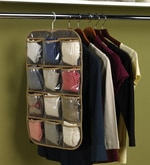 Non-Woven & Net Brown Clothes Organiser