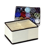 My Gift Booth Non-Woven Cream 8 Compartment Clothes Organiser