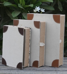 My Gift Booth Canvas Book Storage Boxes - Set Of 3