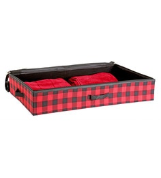 My Gift Booth Check Artificial Crepe Red Clothes Organiser